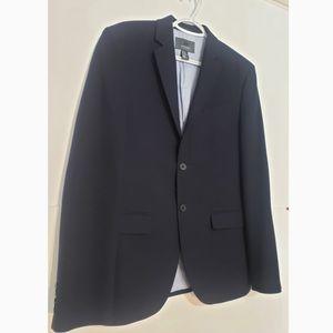 H&M Slim Fit Navy Blue Double Button Mens Blazer